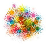 Colorful Splashes, Blots Stock Photos
