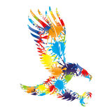 Colorful splashes in the form of an eagle Stock Images
