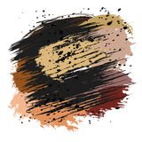 Colorful splashes and spots. Brown and black splashes and spots on a white background. Vector illustration Stock Photos