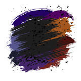 Colorful splashes and spots. Brown, violet and black splashes and spots on a white background. Vector illustration Stock Photography