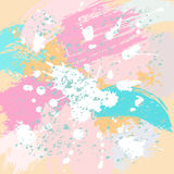 Colorful splashes and spots. Colorful pastel splashes and spot. Vector illustration Stock Image