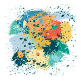 Colorful splashes and spots. On a white background. Vector illustration Stock Images