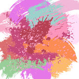 Colorful splashes and spots. On a white background. Vector illustration Stock Photography