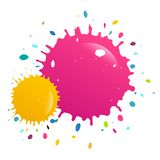 Colorful Splashes Vector Background. Isolated stock illustration