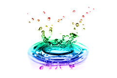 Colorful splashes of water royalty free stock image