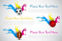 Colorful Splashy Sports Template Stock Images