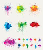 Colorful splats Stock Images