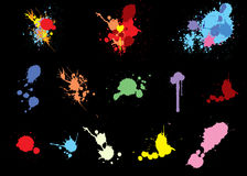 Colorful splats Royalty Free Stock Photos