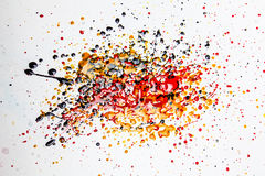 Colorful splatter. Pattern on a white background royalty free stock image