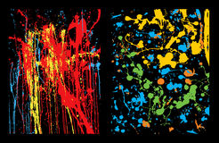 Colorful splatter backgrounds Stock Image