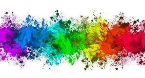 Colorful splatter banner Stock Photography