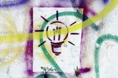 Colorful splatter lightbulb vector illustration