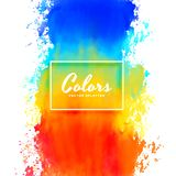 Colorful splatter watercolor paint ink background royalty free illustration