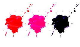 Colorful splatter watercolor set isolated on white background. Colorful splatter watercolor set isolated on white background Stock Photography