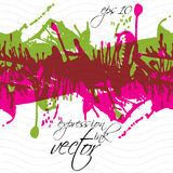 Colorful splattered web design repeat pattern, art ink blob Stock Photos