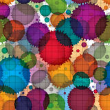 Colorful splattered web design repeat pattern, overlay art ink b Stock Photo