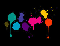 Colorful Splatters Royalty Free Stock Photography