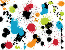 Colorful Splatters. Grungy Colorful Paint Splatters Set royalty free illustration
