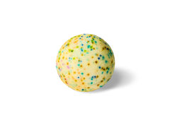 Colorful sponge ball: dimensional depth Royalty Free Stock Images