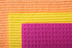Colorful sponge foam as background texture Stock Images