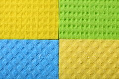 Colorful sponge foam as background texture Royalty Free Stock Photo