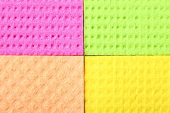 Colorful sponge foam as background texture. Colorful kitchen sponge rubber foam as background texture. Blocks in different colors royalty free stock image