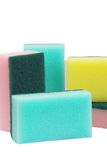 Colorful sponge. Kitchen utensil of colorful sponge for washing dish stock photos