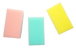 Colorful sponge. Kitchen utensil of colorful sponge for washing dish stock photography