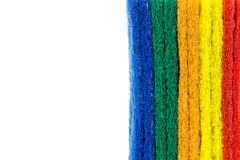 Colorful sponge on white background Stock Photos