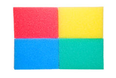Colorful sponges. Isolated on a white background Royalty Free Stock Image
