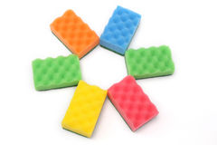Colorful sponges Royalty Free Stock Photography