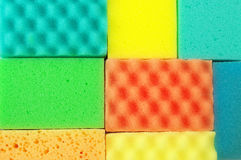 Colorful sponges Royalty Free Stock Images