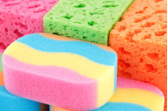 Colorful sponges Stock Photography