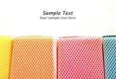 Colorful sponges isolated Royalty Free Stock Photography
