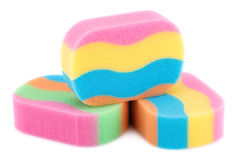Colorful sponges Royalty Free Stock Image