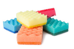 Colorful sponges Stock Photos