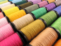 Colorful spools Stock Images