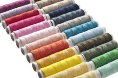 Colorful spools Royalty Free Stock Images