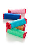 Colorful spools. Royalty Free Stock Images