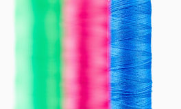 Colorful spools of thread Royalty Free Stock Photography