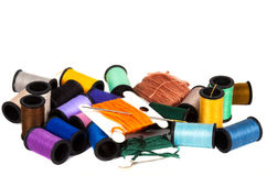 Colorful spools of thread Royalty Free Stock Photos