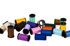 Colorful spools of thread Stock Photo