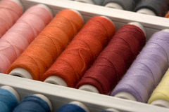 Colorful spools of thread Royalty Free Stock Image