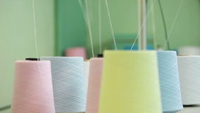 Colorful spools of thread background Stock Images