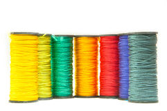 Colorful spools of thread Stock Photography