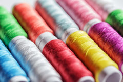 Colorful spools of thread. Royalty Free Stock Photography