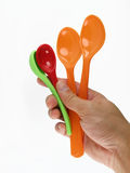 colorful spoon Stock Images