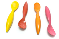 Colorful spoons Royalty Free Stock Images