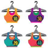 Colorful Sport Bras On Sale. Stock Image