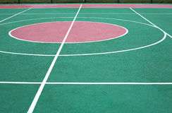 Colorful sport ground with white marking line Royalty Free Stock Image
